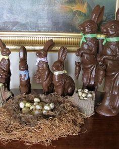 """Chocolate"" Rabbit Display"