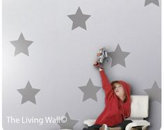Grande stella d'argento Stickers murali Decalcomanie di tayostudio