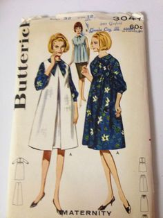 Vintage Butterick 3047 60's maternity dress