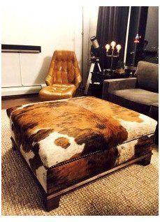 Cowhide Decor, Cowhide Furniture, Cowhide Ottoman, Western Furniture, Home Decor Furniture, Furniture Ideas, Best Chair For Posture, Cow Hide Rug, Hide Rugs