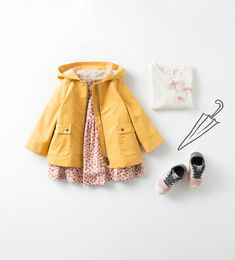 adorable mustard coat for little girl and accessories