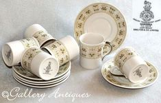 Your place to buy and sell all things handmade Royal Doulton, Coffee Cups And Saucers, Cup And Saucer, Cut Glass, Glass Art, Coffee Cup Sizes, Vintage Tableware, Vintage Silver, Etsy Vintage