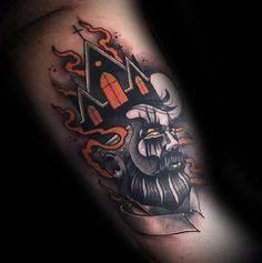 Burning Church Mens Tattoo Ideas