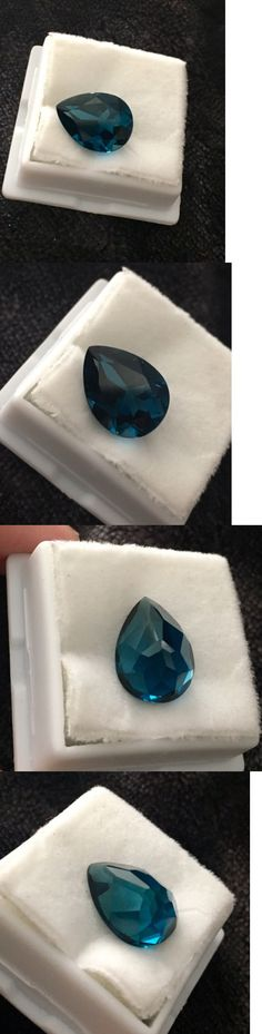 Topaz 10270: London Blue Topaz 10.50 Ct Pear Cut Stone- Pristine Condition! -> BUY IT NOW ONLY: $110 on eBay!