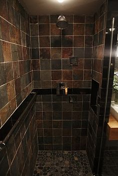 The Tile Shop: copper rust and pebble floor