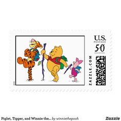 Piglet, Tigger, and Winnie the Pooh Hiking Postage. Beautiful Disney merchandise to personalize. Camping Supplies, Camping Hacks, Camping Ideas, Camping In North Carolina, Camping With Toddlers, Affordable Vacations, Camping Style, Disney Merchandise, Custom Stamps