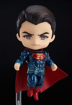 The showdown of the century in Nendoroid size! From the popular movie 'Batman v Superman: Dawn of Justice' comes a Nendoroid of Superman! The Nendoroid is a part of the fully articulated 'Edition' series of Nendoroids which allows for all sort. Batman Vs Superman, Superman Dawn Of Justice, Superman Superman, Wallpaper Do Superman, Avengers Wallpaper, Chibi Marvel, Marvel Art, Anime Figures, Action Figures
