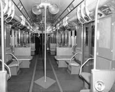 Historical images of New York City Subway | Those fans would be vandalized today!
