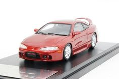 INTERALLIED Hi-Story 1/43 Mitsubishi ECLIPSE GSX 1997 Cayenne Red Pearl free #interallied