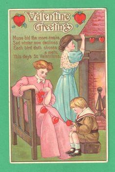 postcard.quenalbertini: Vintage Valentine's Card, 1911