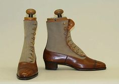 ~Shoes Peal & Co., Ltd.  (British) Date: 1908–12 Culture: British Medium: leather, wool, cotton~