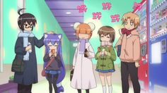 Acchi Kocchi- A lovely slice of life mixed with comedy and a dash of romance. If you like this kind of thing, this is the one for you. The comedic scenes are bound to make you laugh with their various expressions (and their plans) are sure to put a smile on your face. I have re watched a couple of episodes since they make me giggle after a sad and depressing day X3
