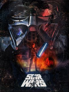Star Wars Retro Style Poster by ~jdesigns79