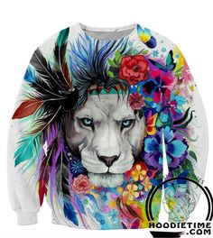 Colorful and Prideful Lion Tank Top - 360 Printed Gym Shirt