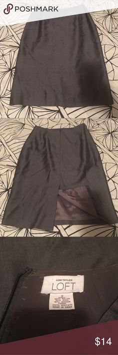 Silver Vintage Pencil Skirt LOFT 2 Lovely pencil skirt in excellent condition. Color is a dark grey / silver shade. Excellent construction. Waist measures just about 12.5 inches across and this skirt is 22.5 inches long. Bundles encouraged! LOFT Skirts Pencil