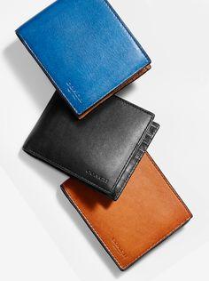 Coach Men'S Wallets - Men'S Designer Leather Wallets