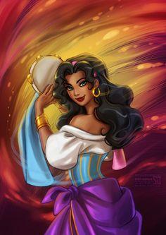 Hunchback of Notre-Dame: Esmeralda by *daekazu on deviantART