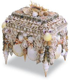 Boardwalk Shell Jewelry Box from Currey