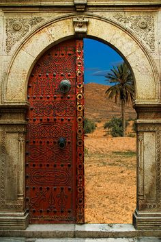 Opening to the desert of Morocco