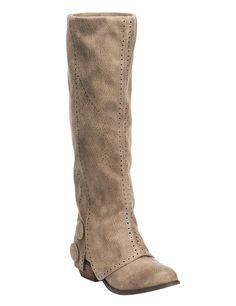 Women's Bailey Burnished Taupe Tall Round Toe Fashion Boots | Cavender's