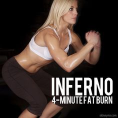 Inferno 4-Minute Fat Burn targets the lower body and is exactly as it sounds, it BURNS! #inferno #fatburn #4minuteworkout