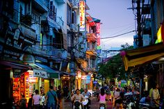 Hanoi, Vietnam. Hanoi is such a unique town in Vietnam with its diversity and culture.