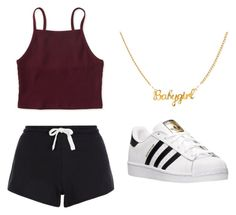 """Untitled #25"" by veena-eazy ❤ liked on Polyvore featuring Aéropostale, New Look and adidas"