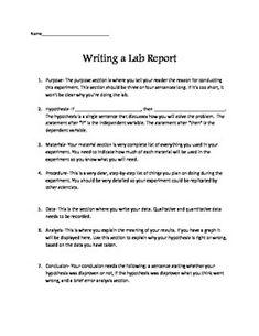 Scientific data , 7 Formal Lab Report Template : Formal Lab Report ...