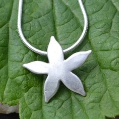 Silver Starflower Necklace by muriel & lily