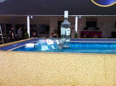 The pool in the Hard Rock VIP tent at Hard Rock Calling 2012