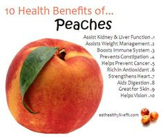 10 Health Benefits of Peaches. Peach, Health Tips, Health Benefits, Lemon Benefits, Calendula Benefits, Food, Apple, Canning, Tomato Nutrition