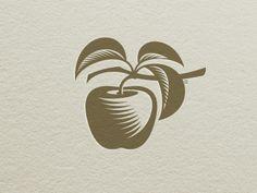 Apple Letterpress Marks, by Gal Yuri