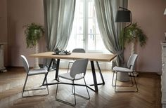 Buy online By domitalia, rectangular table design Alberto Werner Arter, tables collection Collection Oak Dining Table, Modern Dining Table, Dining Chairs, Conference Table, Metal Chairs, Aluminium, Contemporary Furniture, Home Decor, Tables