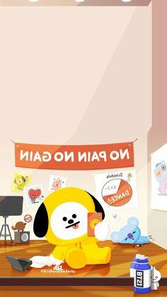 - Chimmy, Koya e Shooky Friends Wallpaper, Bts Wallpaper, Iphone Wallpaper, Chibi Boy, Bts Chibi, Cute Lockscreens, Bt 21, Character Wallpaper, Bts Love Yourself