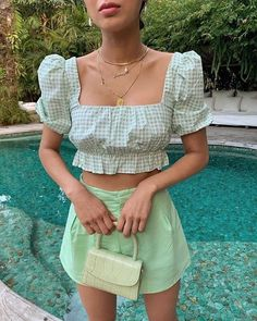 High Fashion trends to inspire our daily outfits. The best of fashion trends and looks. Trendy Outfits, Cute Outfits, Fashion Outfits, Womens Fashion, Spring Outfits, Pastel Outfit Spring, Fashion Clothes, Stylish Summer Outfits, Skater Outfits