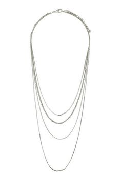 Silver Multi Row Chain
