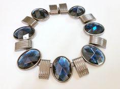 Designer Ben Amun Silver and Blue Necklace by TrendyTreasures1 #Vintage #TeamLove #EcoChic