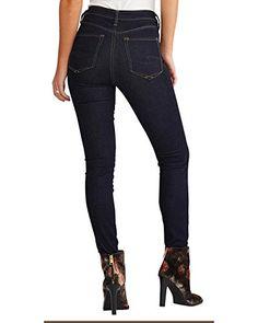 Premium Hudson Womens Collin Skinny Jeans in Imposter