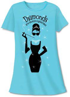 3b9475eda4 Relevant Products Diamonds Sleep Shirt Audry Hepburn