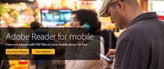 Adobe Reader mobile app — free iOS and Android PDF reader Smartphone, Ipad, Adobe Acrobat, Free Android, Iphone, Mobile App, Adobe Reader, Business, Marriage