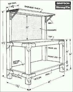 Free work bench plans Does your current workbench consist of two sawhorses and an old door slab Well Improve your skills with Fine Woodworking s Reloading Bench Plans, Workbench Plans Diy, Workbench Designs, Woodworking Bench Plans, Wood Plans, Woodworking Projects Diy, Woodworking Furniture, Fine Woodworking, Garage Workbench