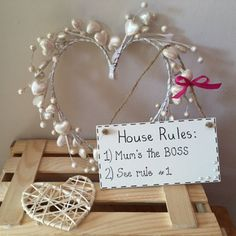 """MOTHERS DAY """"House Rules Plaque"""" #mothers day #mum's rule #mum #gift ideas"""
