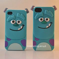 Cute Disney Cartoon Sulley silicone soft case cover for iPhone5s 4s note3/2 SIV