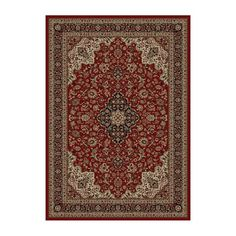 Concord Global Trading 2080 Persian Classics Medallion Kashan Area Rug, Red  almost 8 by 11 feet is $482 with free shipping. www.atgstore.com