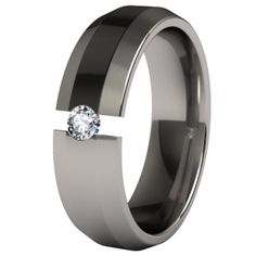 Ascent Tension Set Titanium Wedding Ring