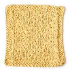 Free Knitting Pattern 90385 Orient Point Washcloth : Lion Brand Yarn Company