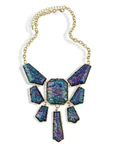 Retro Style Laser Resin Necklace