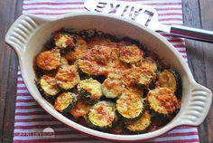 Cheesy Zucchini Bake - add protein and make it a complete meal.