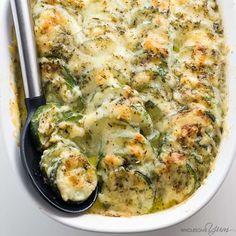 Zucchini+Gratin+Recipe+(Low+Carb+Cheesy+Zucchini+Casserole)