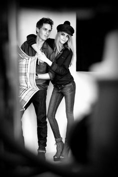 Cara Delevingne and Eddie Redmayne  Burberry S/S 2012 Ad Campaign: Behind The Scenes